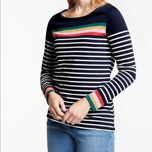 Boden long sleeved Breton tee rainbow 12